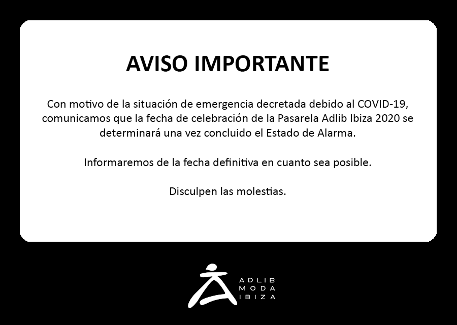 Aviso COVID-19 - Adlib Moda Ibiza