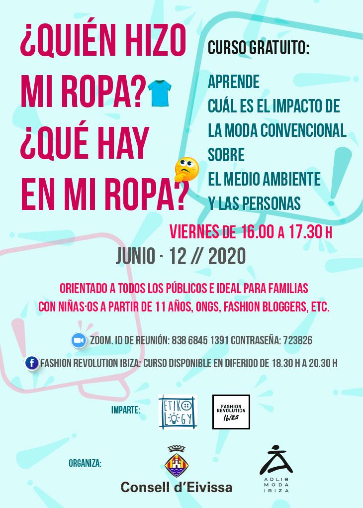 Curso Fashion Revolution 2020 - Adlib Ibiza